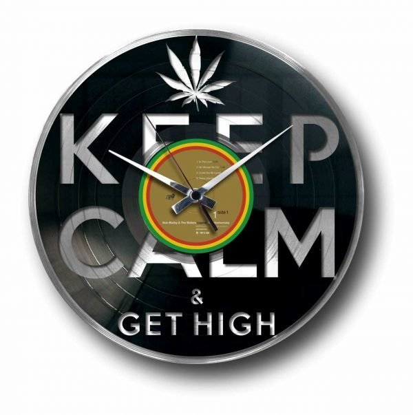 get high weed silver record clock
