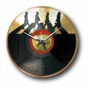 the beatless Golden vinyl record wall clock