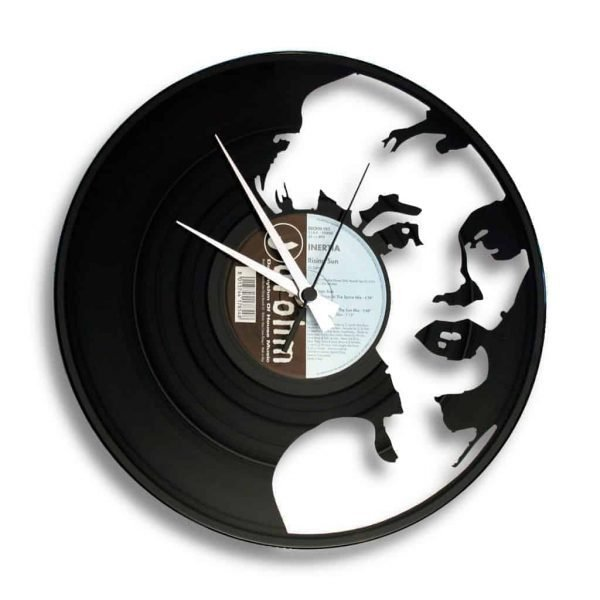 marilyn vinyl record clock