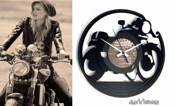 CAFE' RACER vinyl record clock