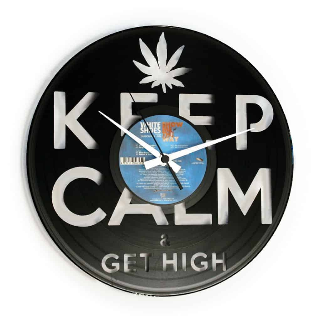 GET HIGH vinyl record clock