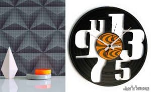 VINYL RECORD CLOCKS WITH NUMBERS