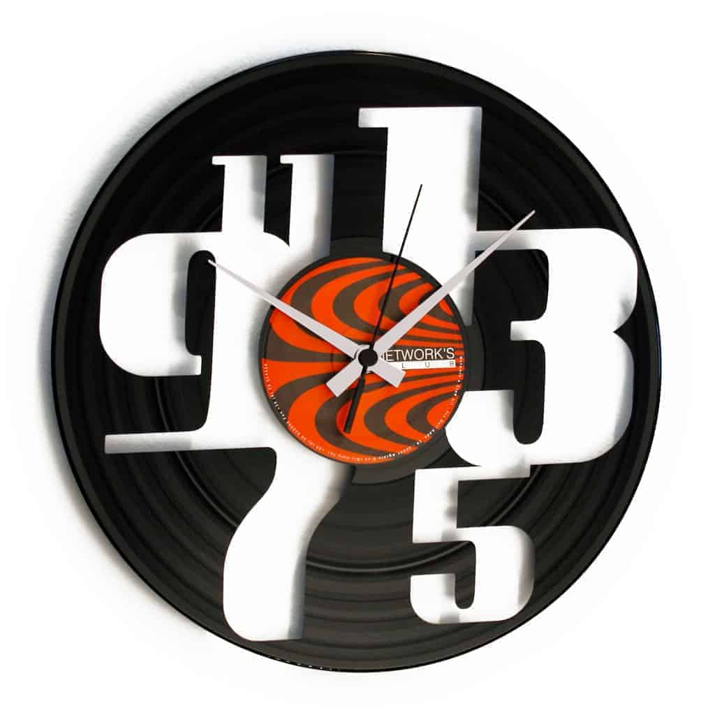 DISPARI vinyl record clock