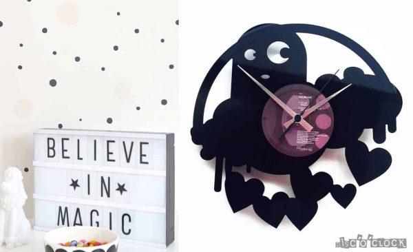 DROPS OF LOVE vinyl record clock