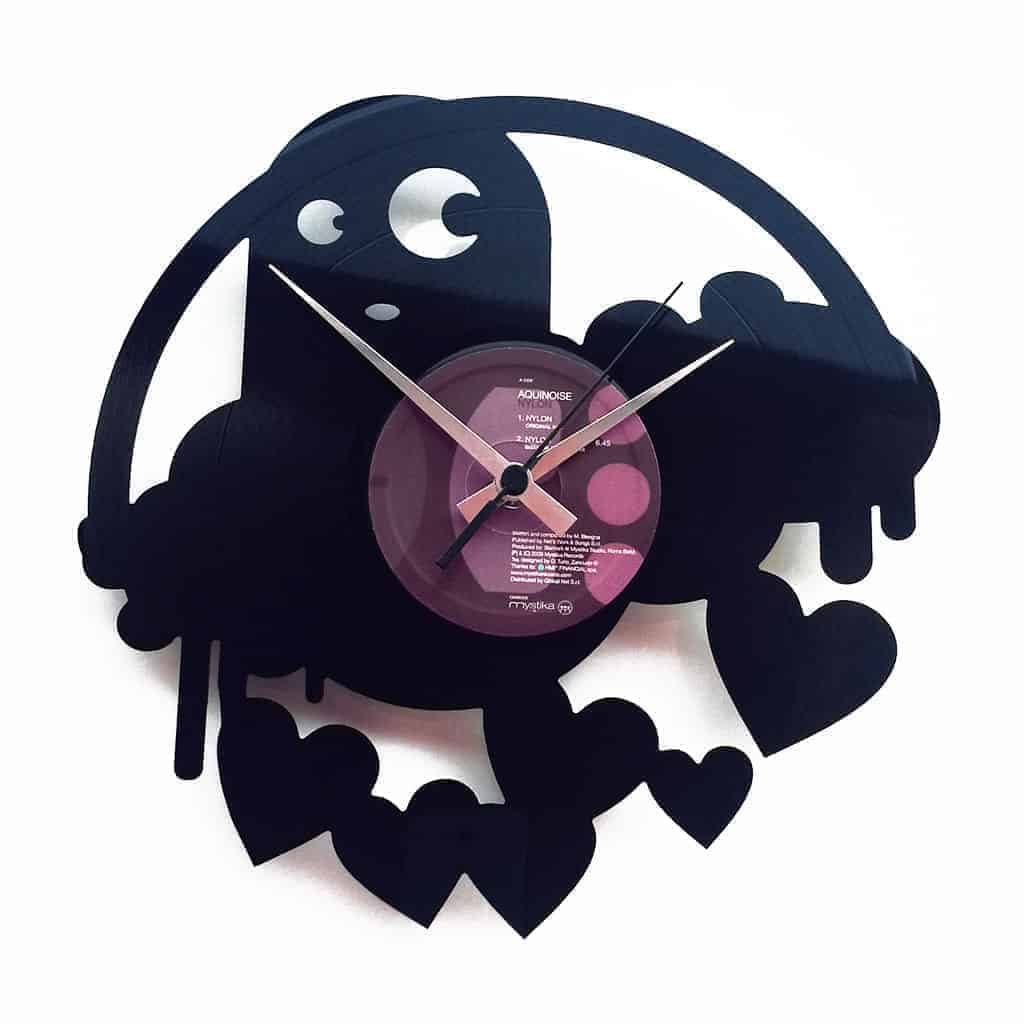 DROPS OF LOVE vinyl record clock