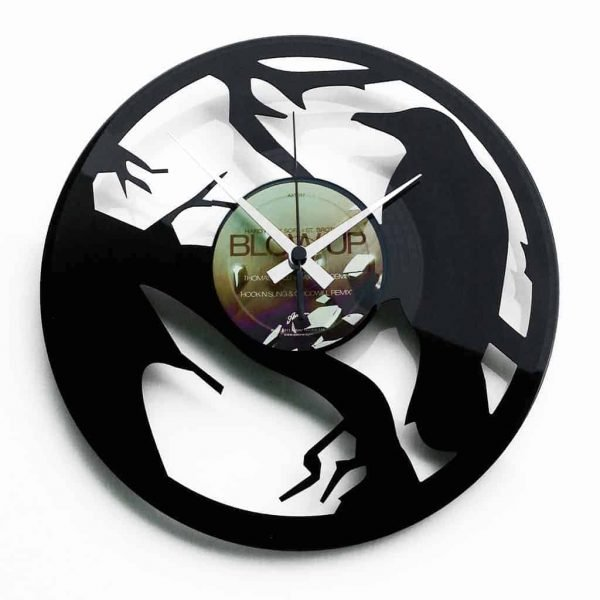 crow vinyl record clock