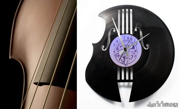 THE BASS MAKER vinyl record clock