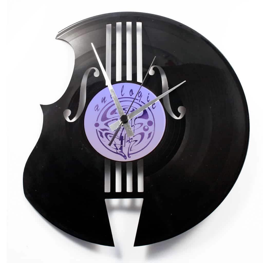contrabass vinyl record clock