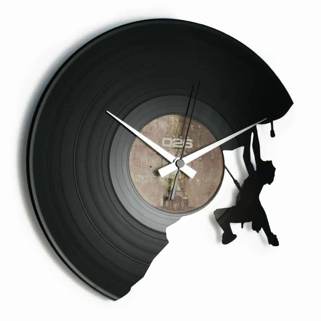 THE CLIMBER vinyl record clock