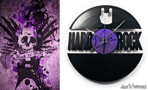 hard rock vinyl record clock