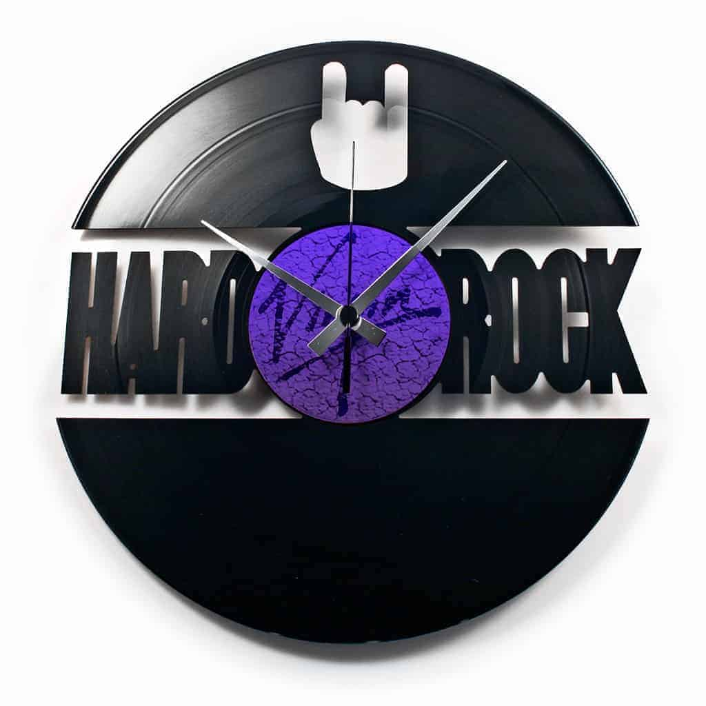 hard rock vinyl record clock