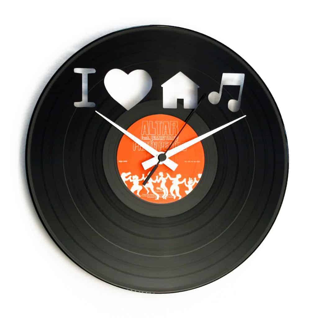 house music record clock