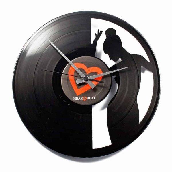 SILENCE vinyl record clock