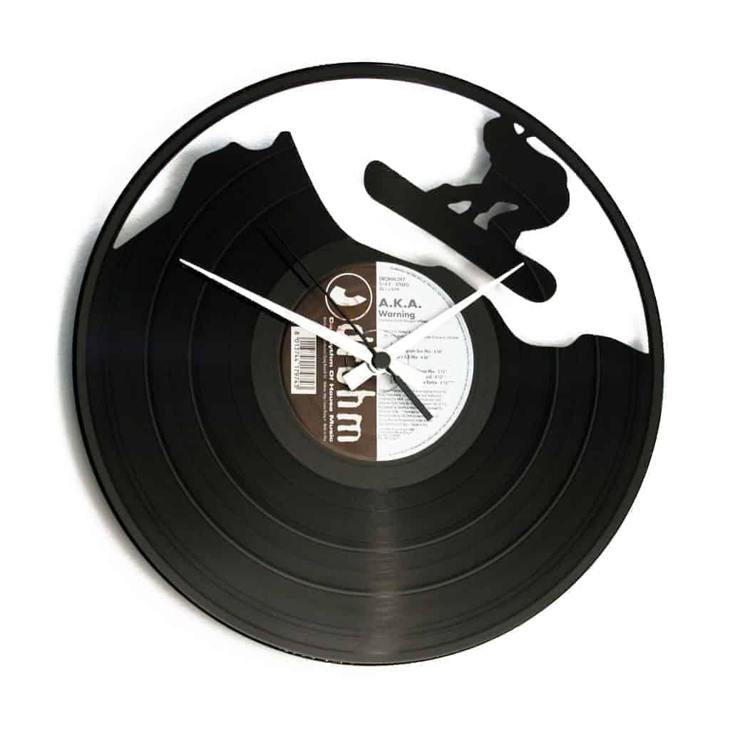 FREERIDE vinyl record clock