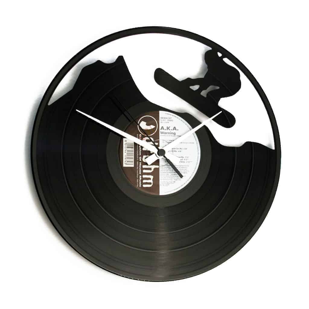 SNOWBOARD VINYL RECORD CLOCK