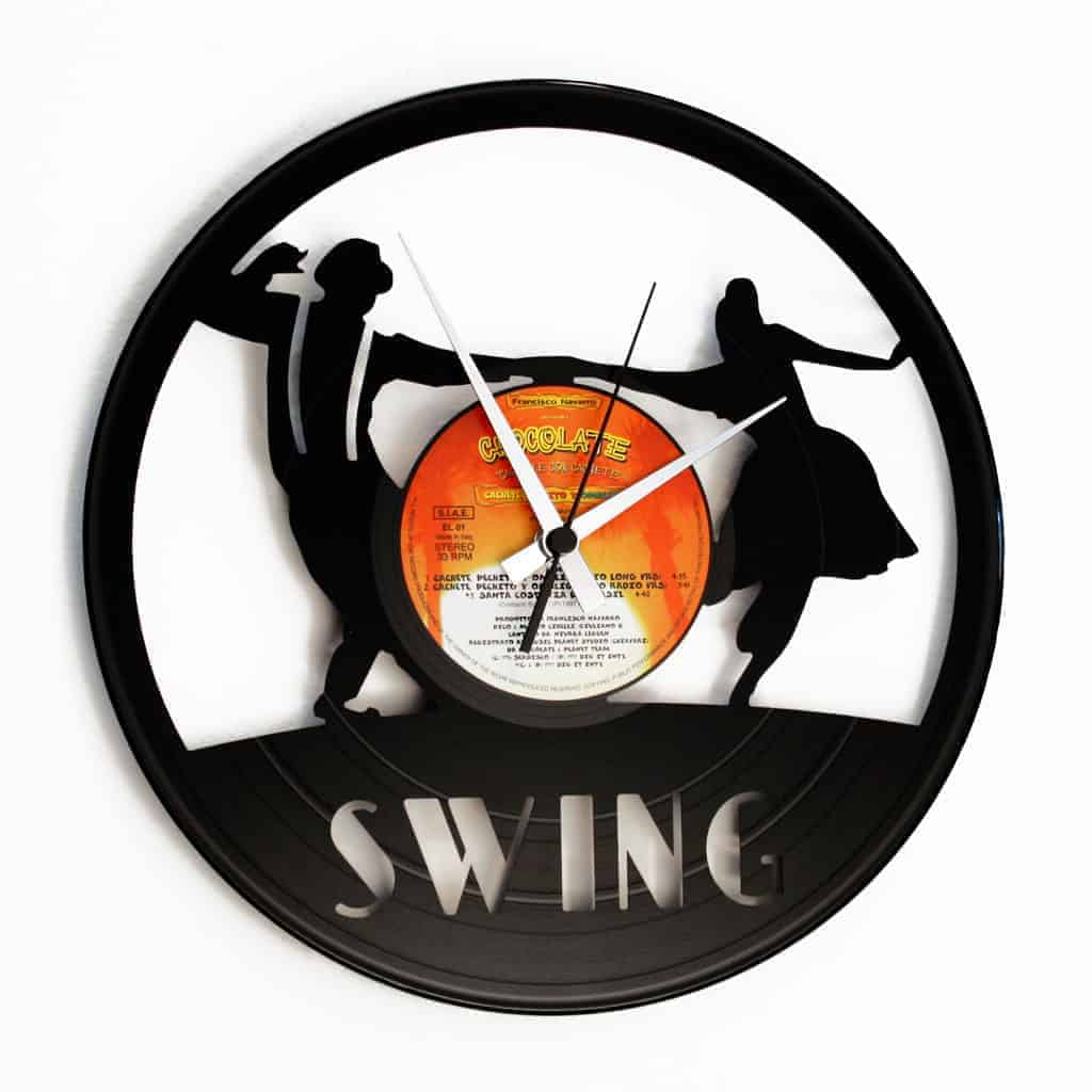 SWING VINYL RECORD CLOCK