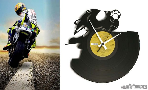 moto gp vinyl record clock