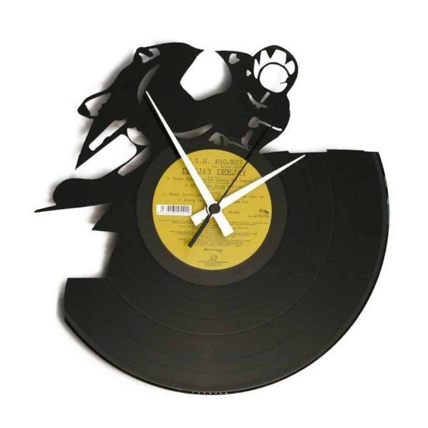 FULL THROTTLE vinyl record clock