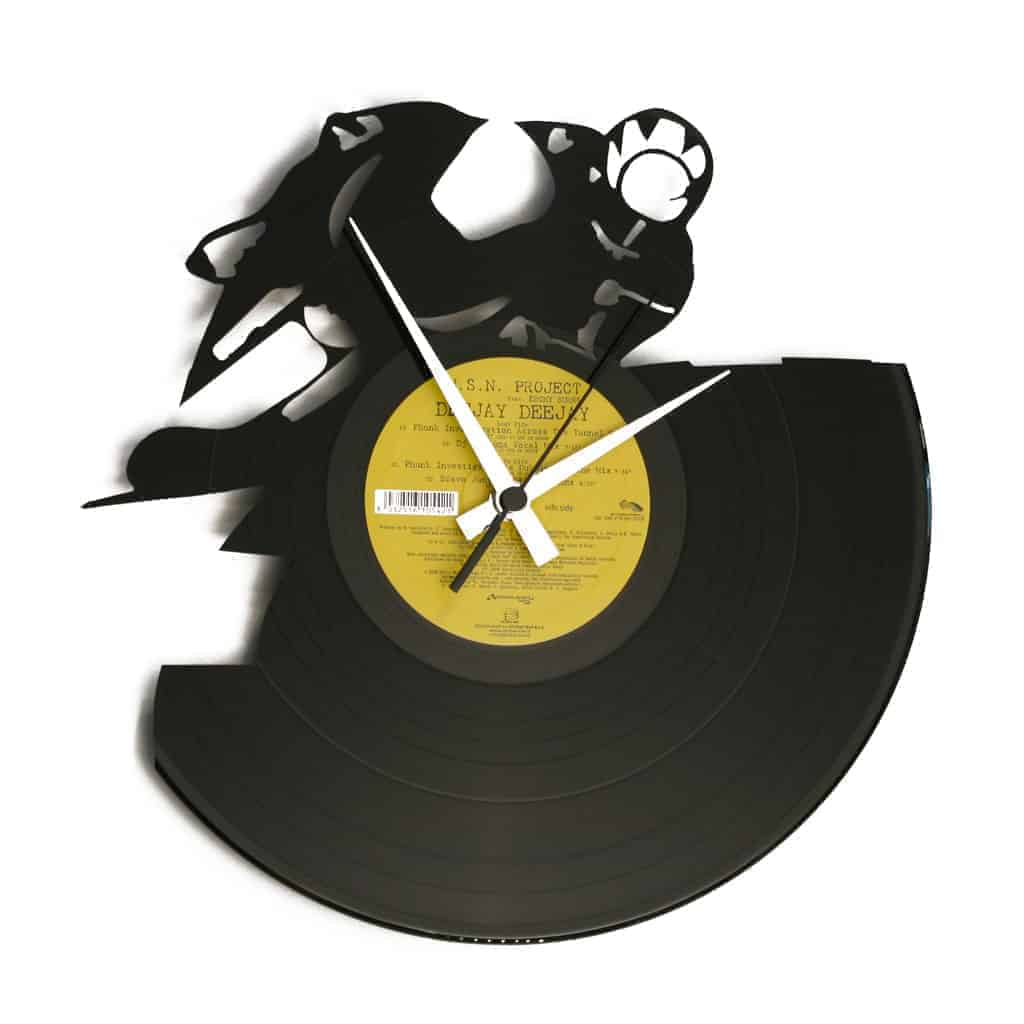FULL THROTTLE vinyl record clock