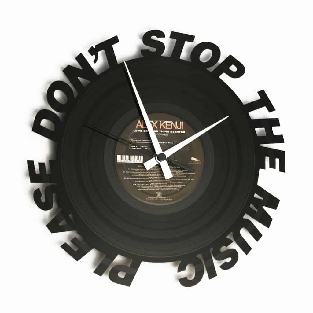 rihanna vinyl record clock