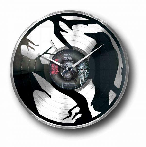 crow silver record clock