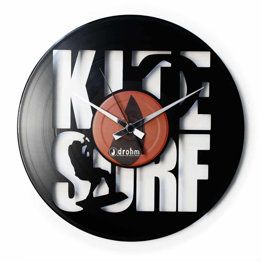 KITE SURF vinyl record clock