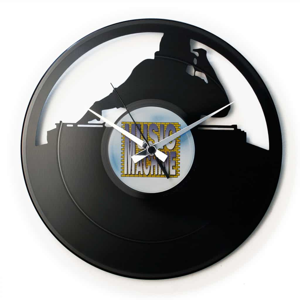 NO SYNC vinyl record clock