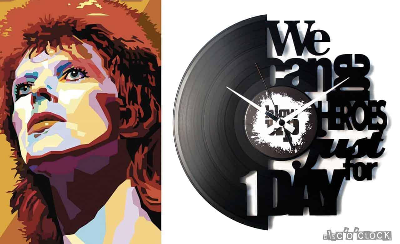 HEROES vinyl record clock