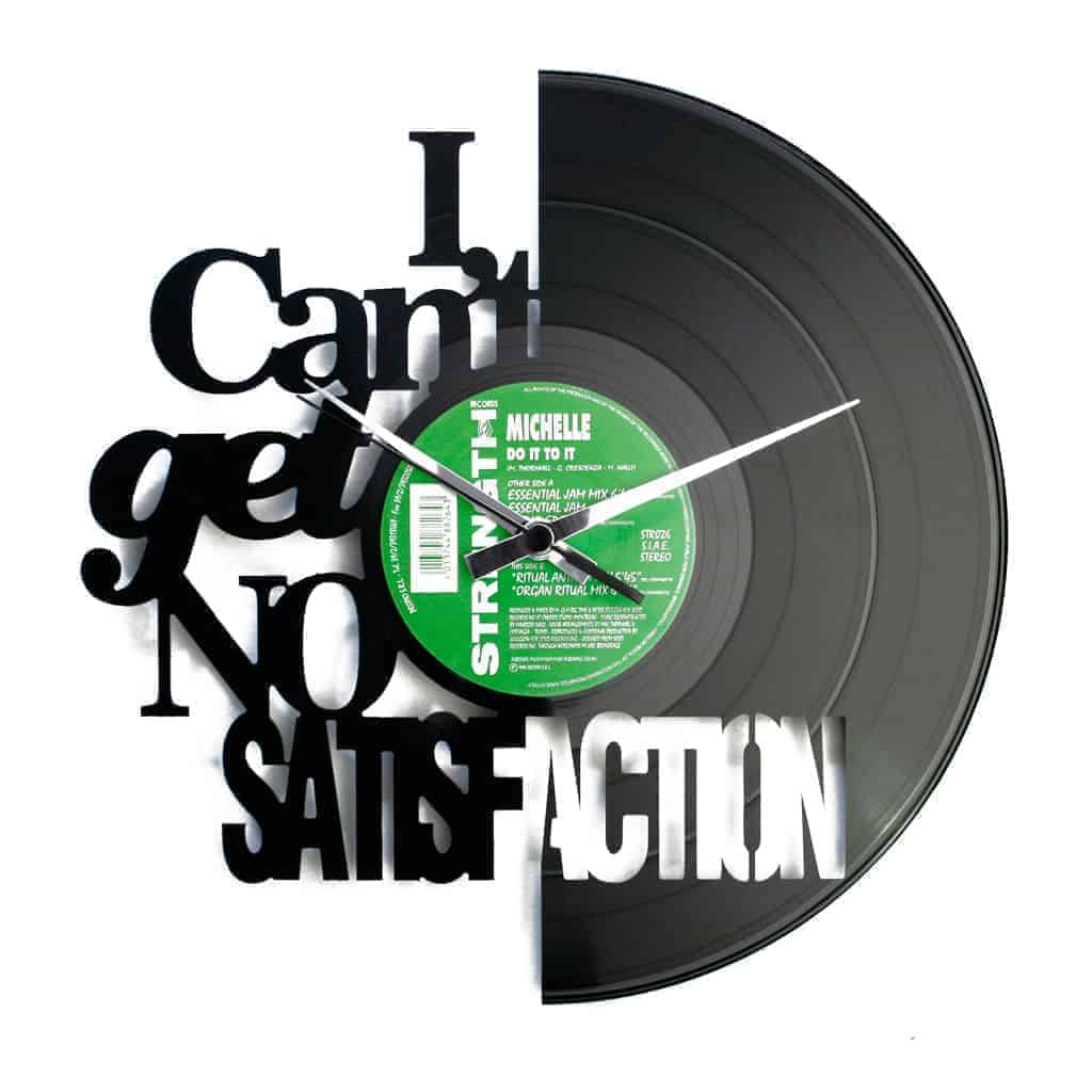 SATISFACTION vinyl record clock