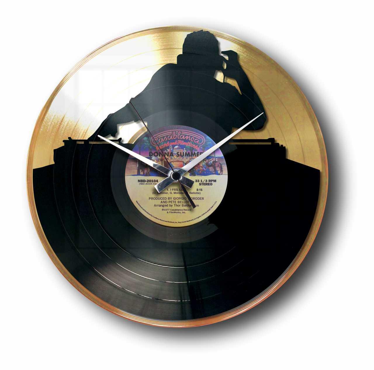 NO SYNC - GOLD or SILVER VINYL RECORD WALL CLOCK