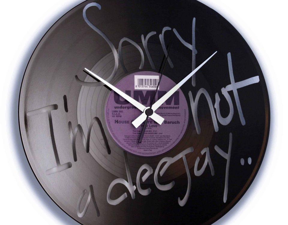 sorry i'm not a deejay, spoon my, vinyl clock, deejay