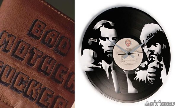 PULP FICTION VINYL RECORD CLOCK