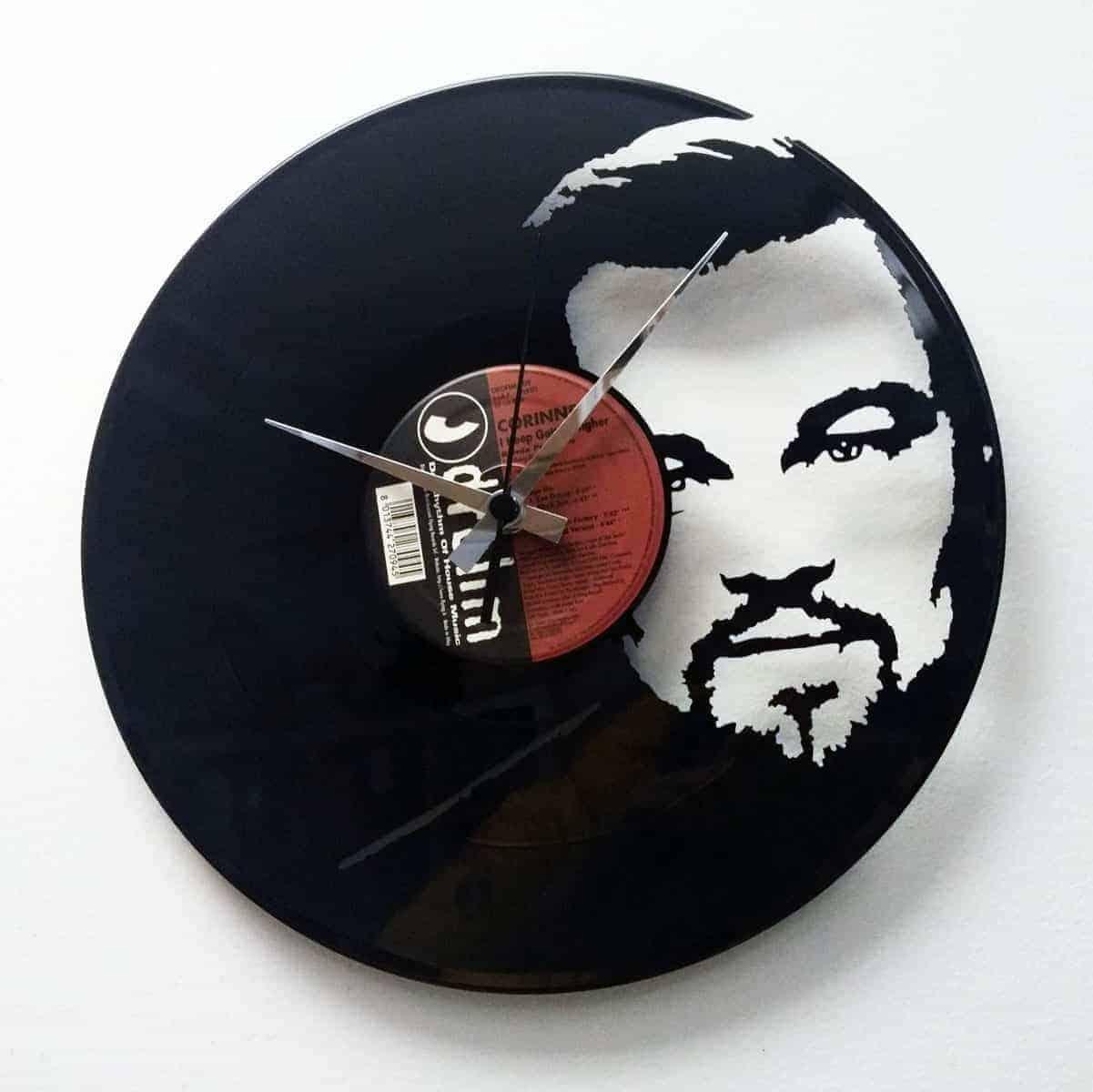 EZEKIEL 25:17 vinyl record clock
