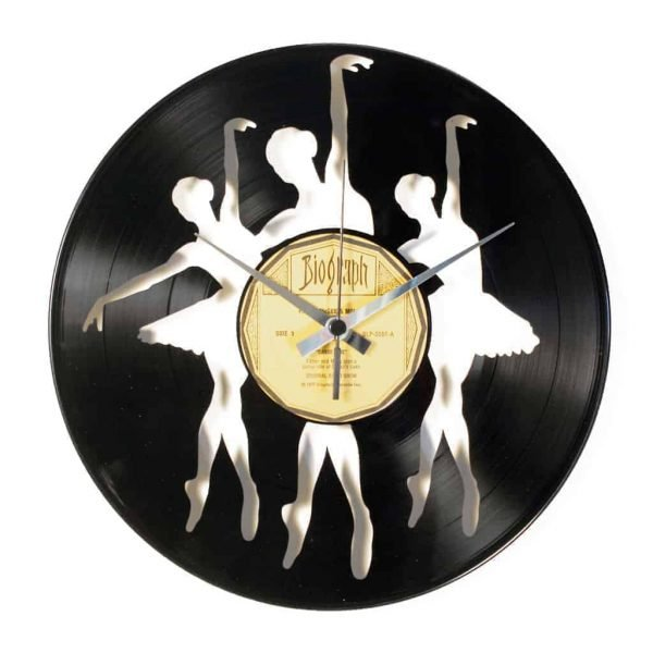 BALLERINAS vinyl record clock