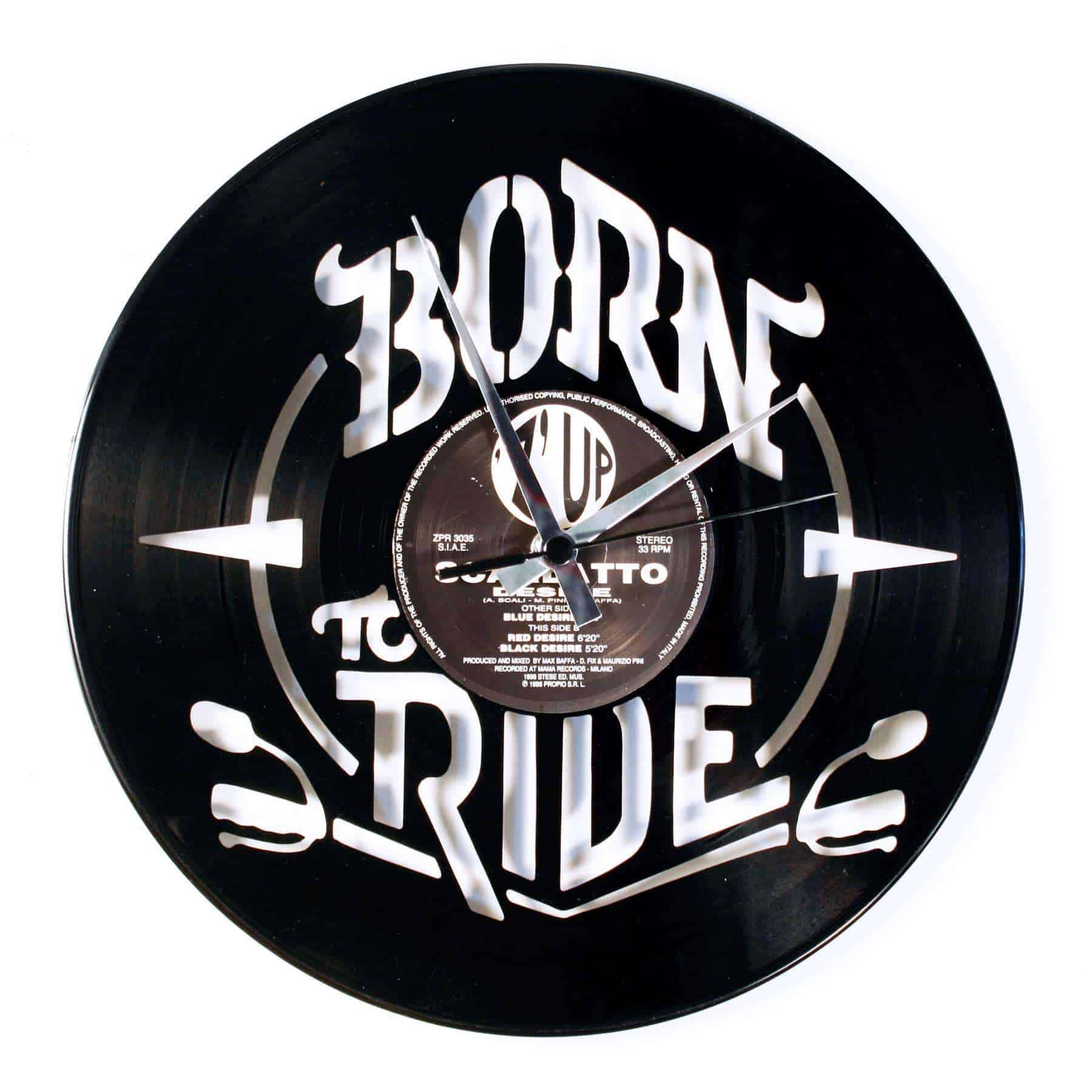 born to ride record clock