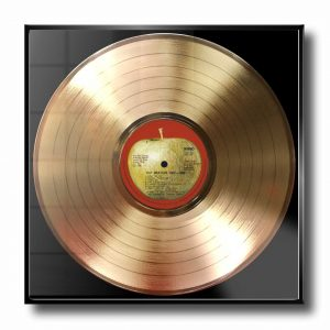 BEATLES THE RED ALBUM gold record