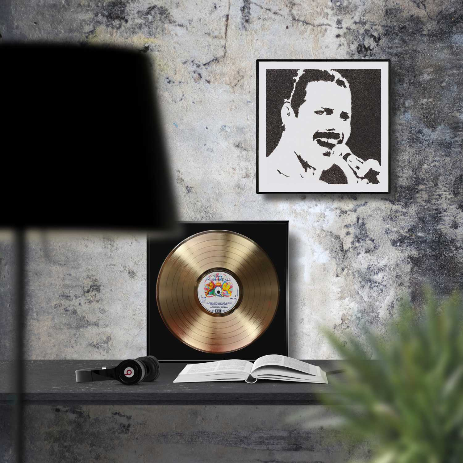 Queen A Night At The Opera Framed Golden Record