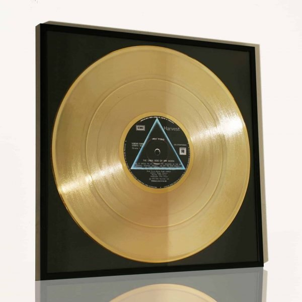 PINK FLOYD – THE DARK SIDE OF THE MOON: FRAMED GOLD PLATED VINYL RECORD