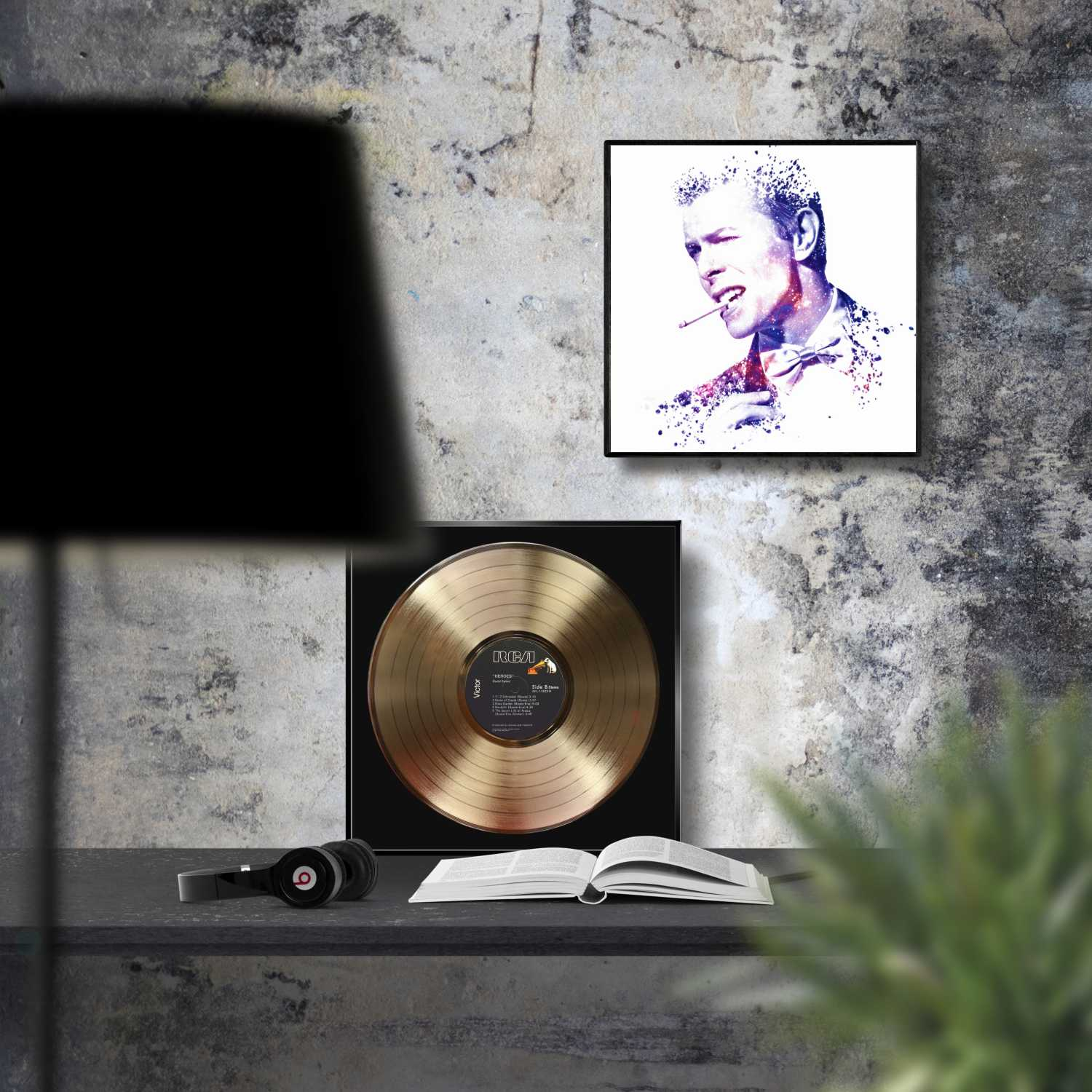 David Bowie Heroes Framed Gold Record