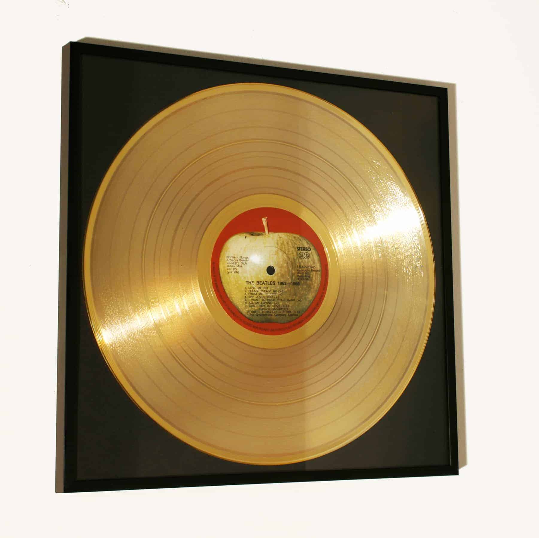 THE BEATLES commemorative GOLD FRAMED RECORD