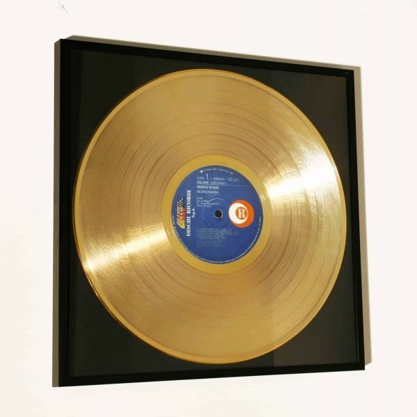 VASCO ROSSI – ALBACHIARA: FRAMED GOLD PLATED VINYL RECORD