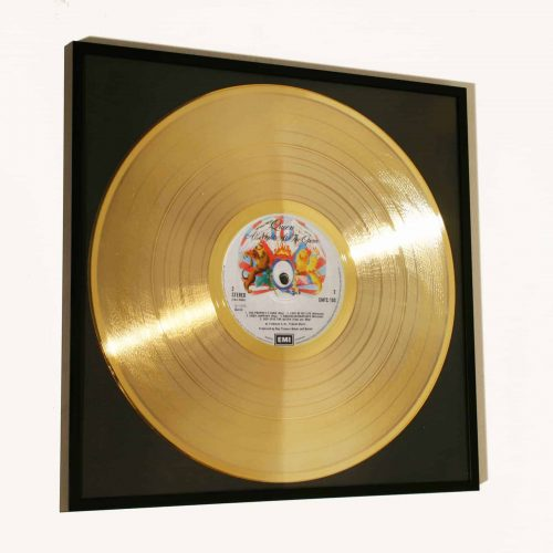 QUEEN – A NIGHT AT THE OPERA: FRAMED GOLD PLATED VINYL RECORD