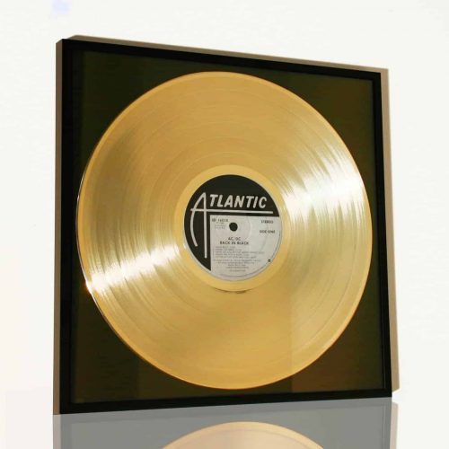 ACDC – BACK IN BLACK: GOLD PLATED RECORD COMMEMORATIVE DISPLAY