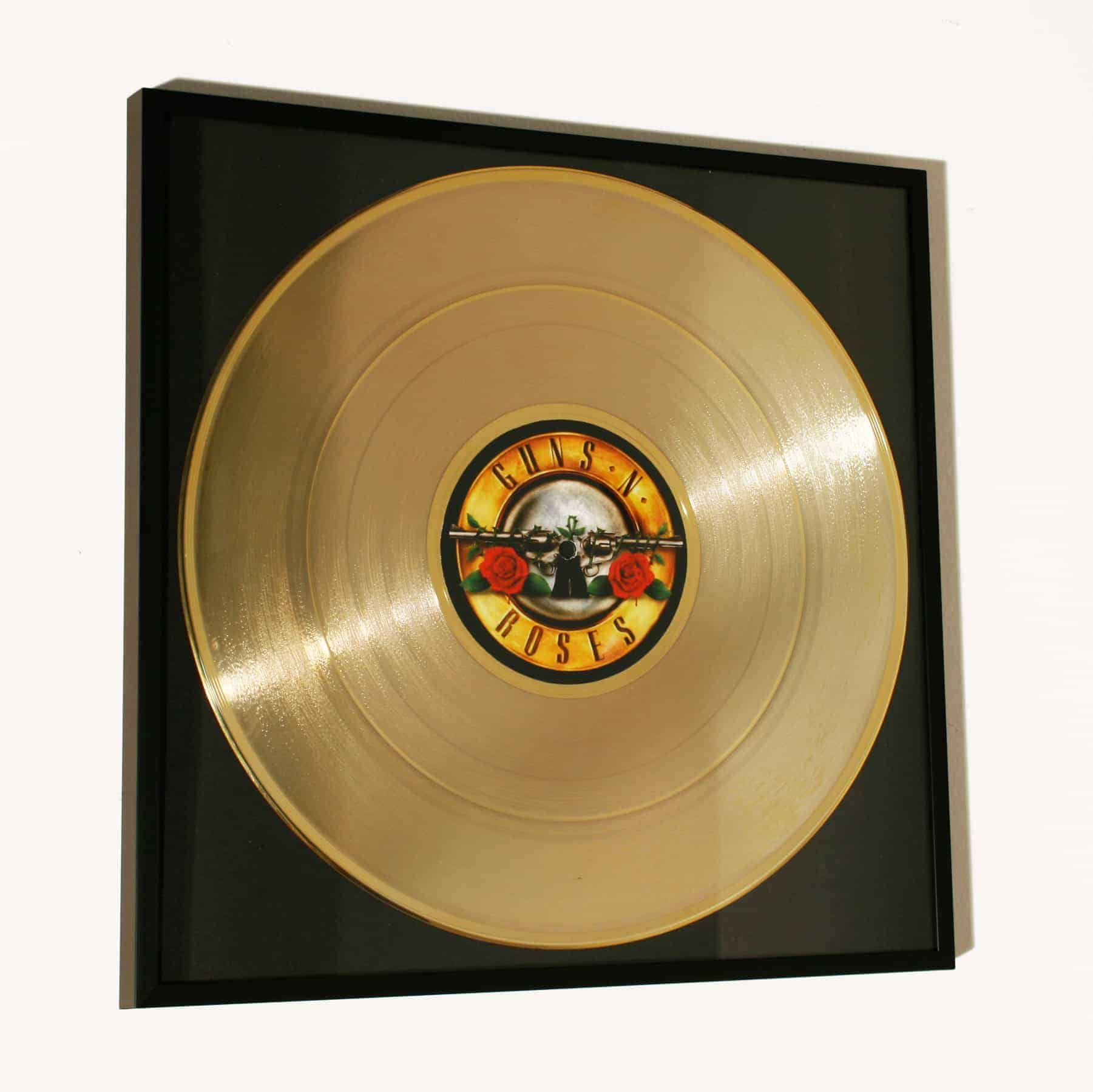 GUNS N ROSES – APPETITE FOR DISTRUCTION: FRAMED GOLD PLATED VINYL RECORD