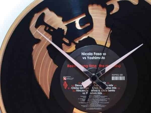 GOLD & SILVER VINYL RECORD CLOCKS - THE DOUBLE DECKER COLLECTION