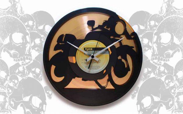 VINYL RECORD CLOCKS WITH BIKES & CARS