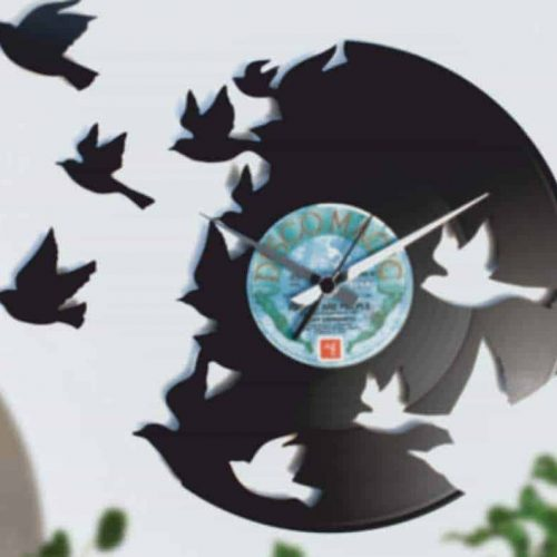 NATURE INSPIRED VINYL RECORD CLOCKS