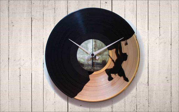 SPORTS INPIRED VINYL RECORD CLOCKS