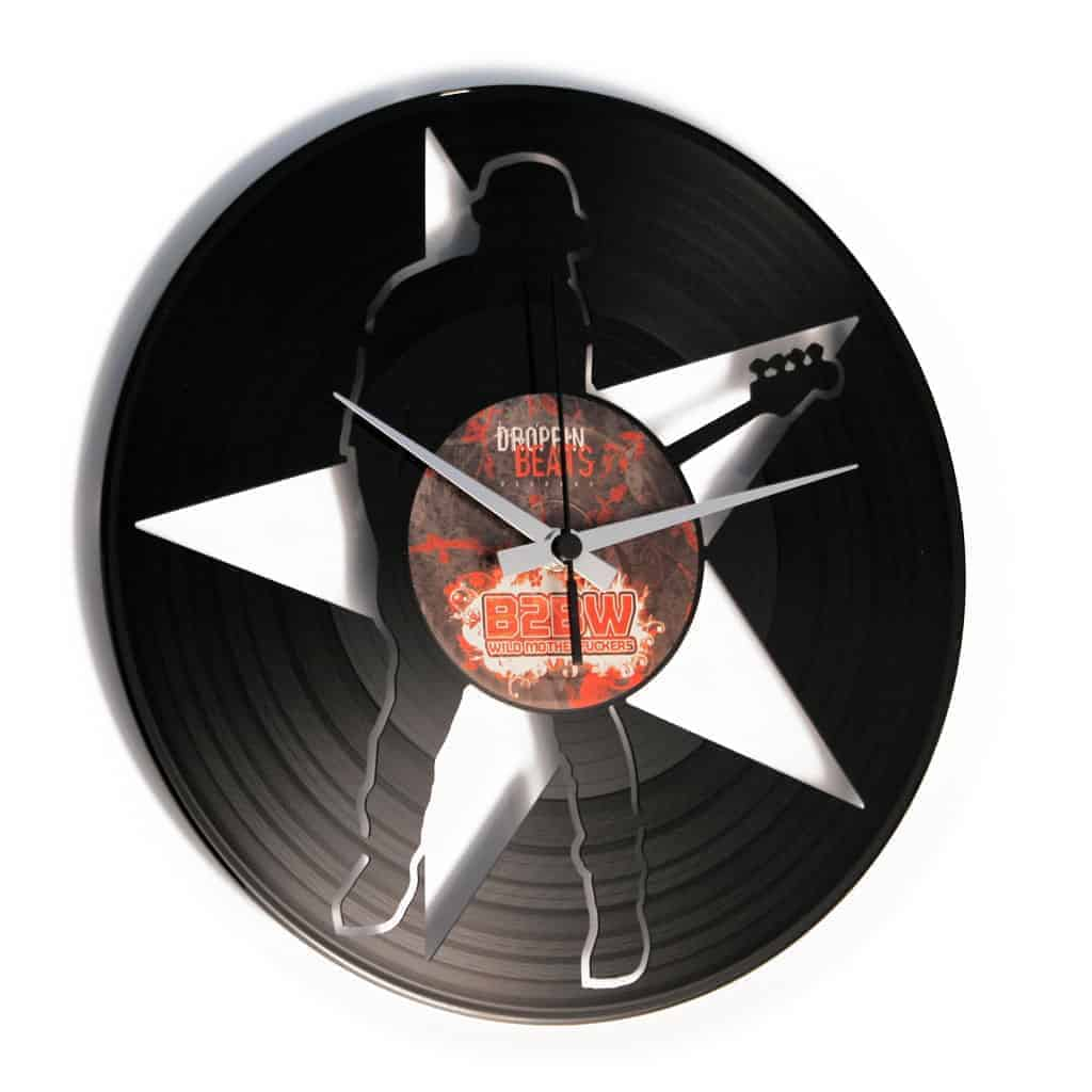 PLAY THAT BASS vinyl record clock