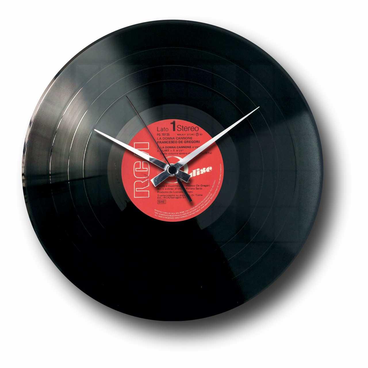 Vinyl Record Clock With Random Label Www Discoclock Com